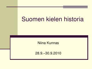 Suomen kielen historia