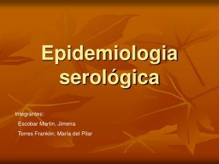 Epidemiologia  serológica