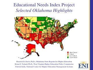 Educational Needs Index Project Selected Oklahoma Highlights