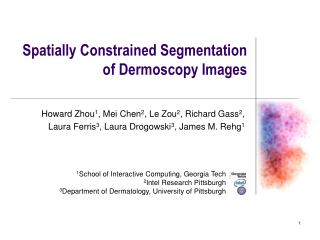 Spatially Constrained Segmentation of Dermoscopy Images