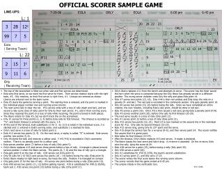 OFFICIAL SCORER SAMPLE GAME