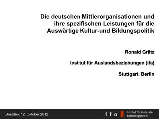 Dresden, 12. Oktober 2012