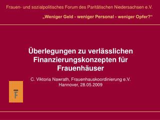 Frauen- und sozialpolitisches Forum des Paritätischen Niedersachsen e.V.
