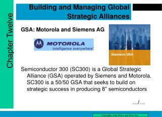 Building and Managing Global Strategic Alliances