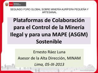 Plataformas de Colaboración para el Control de la Minería Ilegal y para una MAPE (ASGM) Sostenible