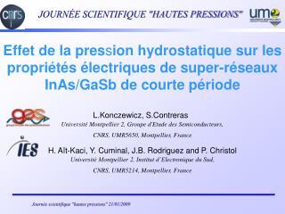 L.Konczewicz, S.Contreras  Université Montpellier 2, Groupe d'Etude des Semiconducteurs,
