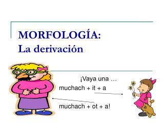 MORFOLOGÍA:   La derivación