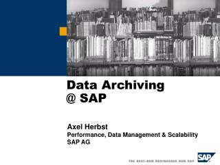 Data Archiving  @ SAP