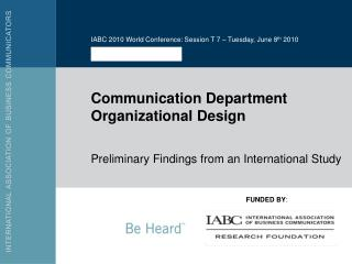 Communication Department Organizational Design