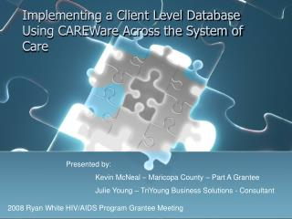 Implementing a Client Level Database Using CAREWare Across the System of Care