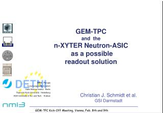 GEM-TPC and  the n-XYTER Neutron-ASIC  as a possible readout solution