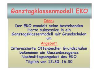 Ganztagklassenmodell EKO
