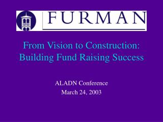 From Vision to Construction: Building Fund Raising Success