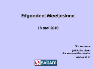 Erfgoedcel Meetjesland 18 mei 2010