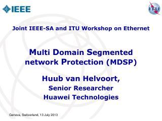 M ulti  D omain  S egmented  network  P rotection (MDSP)
