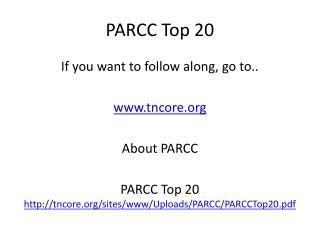 PARCC Top 20