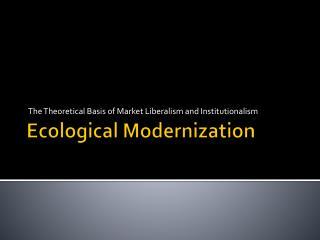 Ecological Modernization