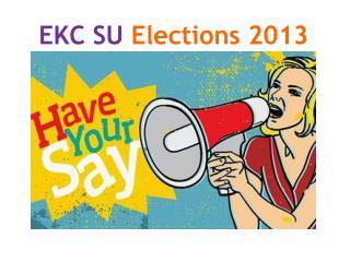 EKC SU  Elections 2013