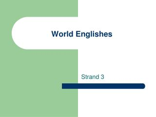 World Englishes