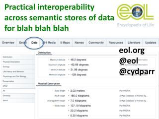Practical  interoperability across  semantic stores of data  for blah blah blah