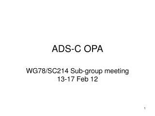 ADS-C OPA