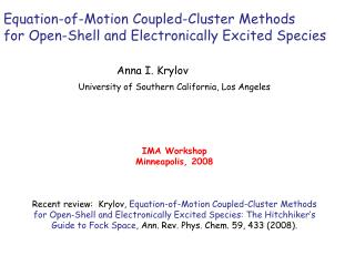 Equation-of-Motion Coupled-Cluster Methods  for Open-Shell and Electronically Excited Species