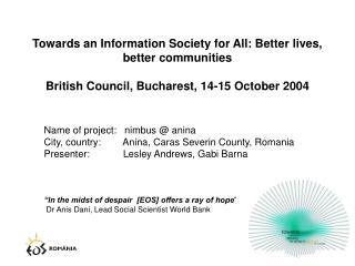Name of project:   nimbus @ anina City, country:   Anina, Caras Severin County, Romania