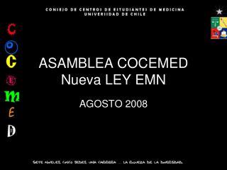 ASAMBLEA COCEMED Nueva LEY EMN