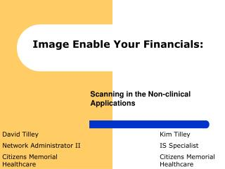 Image Enable Your Financials: