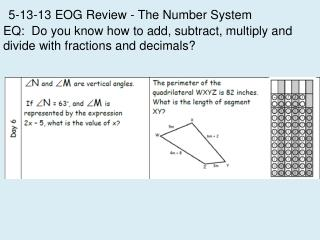 5-13-13 EOG Review - The Number System
