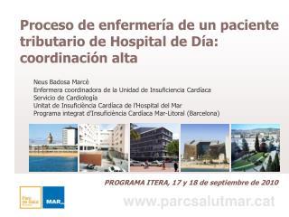 Proceso de enfermería de un paciente tributario de Hospital de Día: coordinación alta