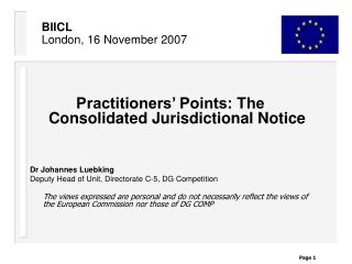 BIICL  London, 16 November 2007