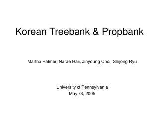 Korean Treebank & Propbank