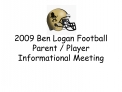 2009 Ben Logan Football Parent