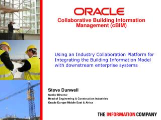 Steve Dunwell Senior Director  Head of Engineering & Construction Industries