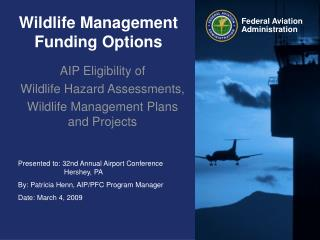 Wildlife Management Funding Options