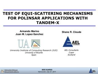 TEST OF EQUI-SCATTERING MECHANISMS FOR POLINSAR APPLICATIONS WITH TANDEM-X