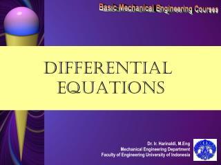 Basic Mechanical Engineering Courses