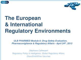 The European & International Regulatory Environments
