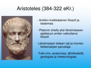 Aristoteles (384-322 eKr.)