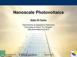 Nanoscale Photovoltaics