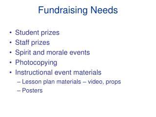 Fundraising Needs