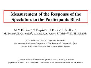Measurement of the Response of the Spectators to the Participants Blast