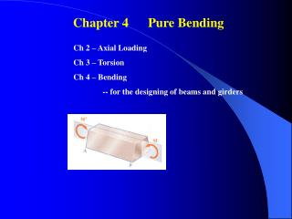 Chapter 4      Pure Bending�