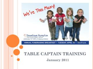 TABLE CAPTAIN TRAINING