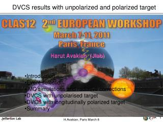 DVCS results with unpolarized and polarized target