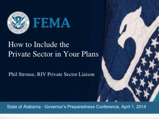 How to Include the  Private Sector in Your Plans