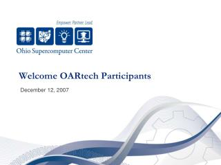 Welcome OARtech Participants