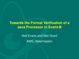 Towards the Formal Verification of a Java Processor in Event-B