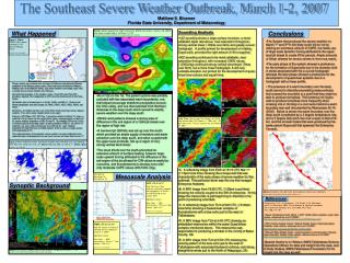 The Southeast Severe Weather Outbreak, March 1-2, 2007